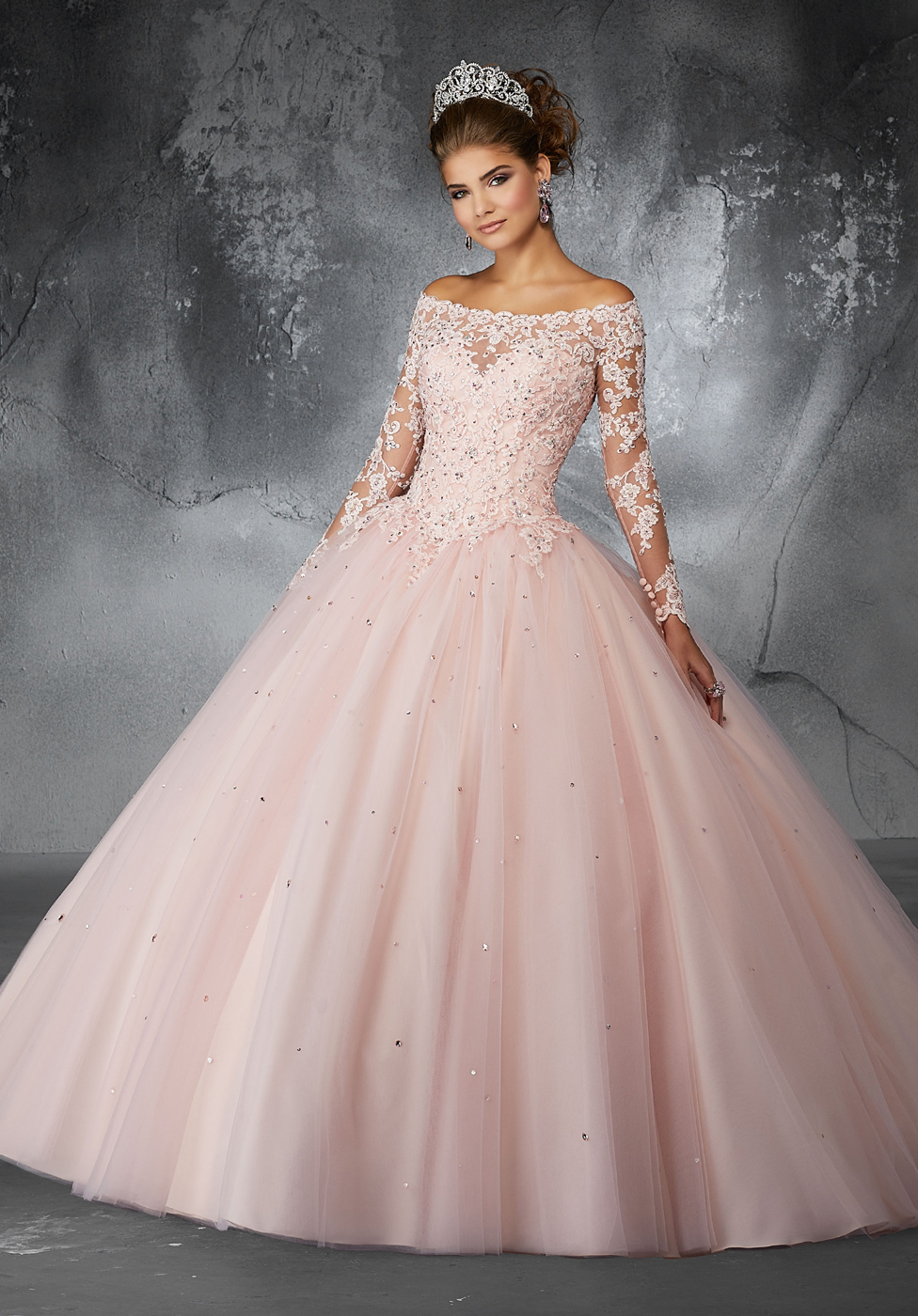 long sleeve champagne quince dress