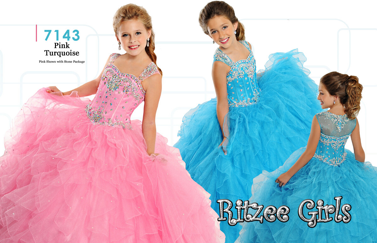 Ritzee Girls 7143 Pageant Dress | MadameBridal.com