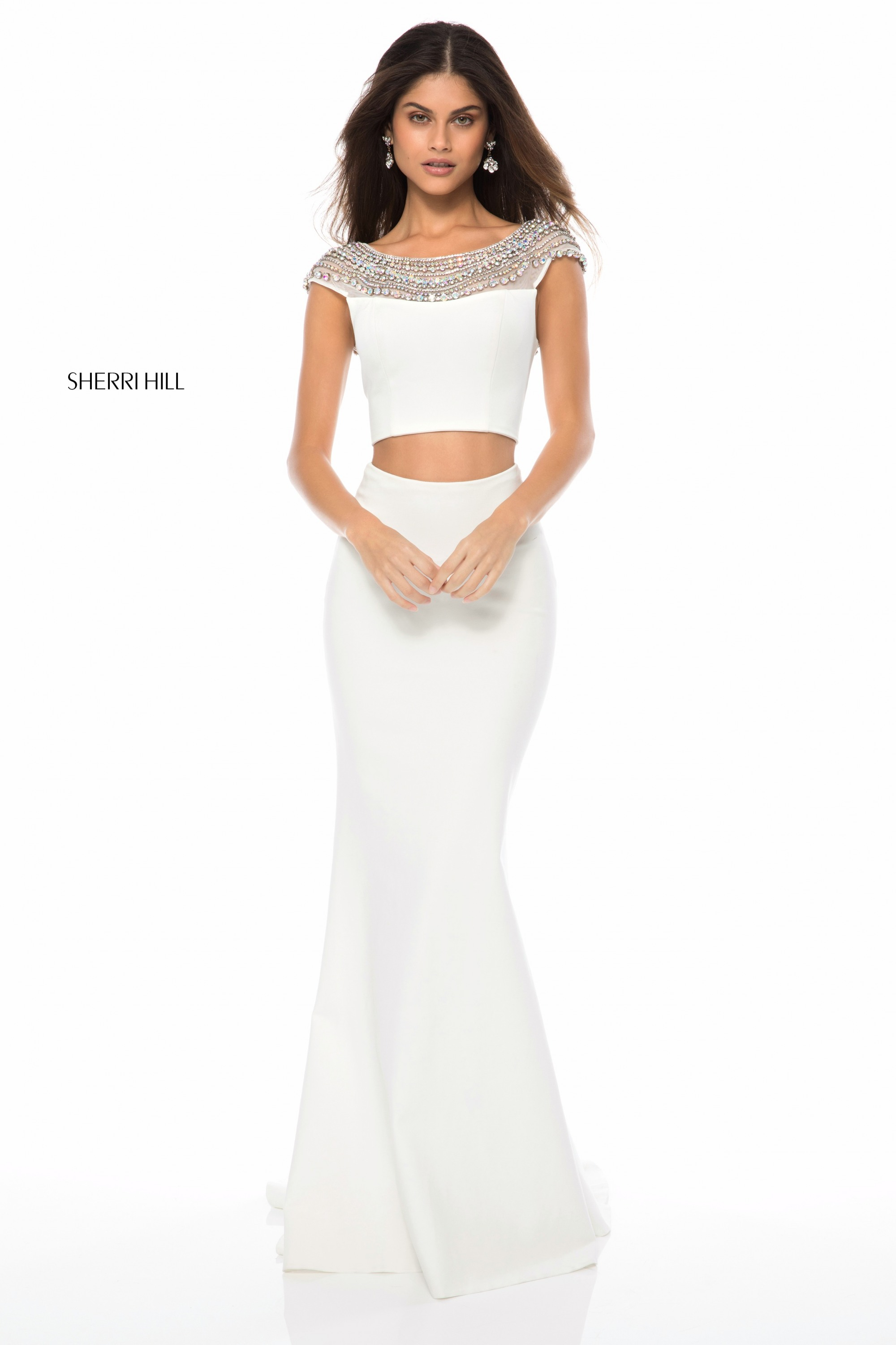 Sherri Hill 51966 Beaded Neckline 2 Piece Formal Dress