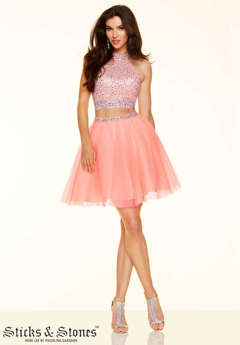 Sticks And Stones 9365 Two Piece Tulle Prom Dress