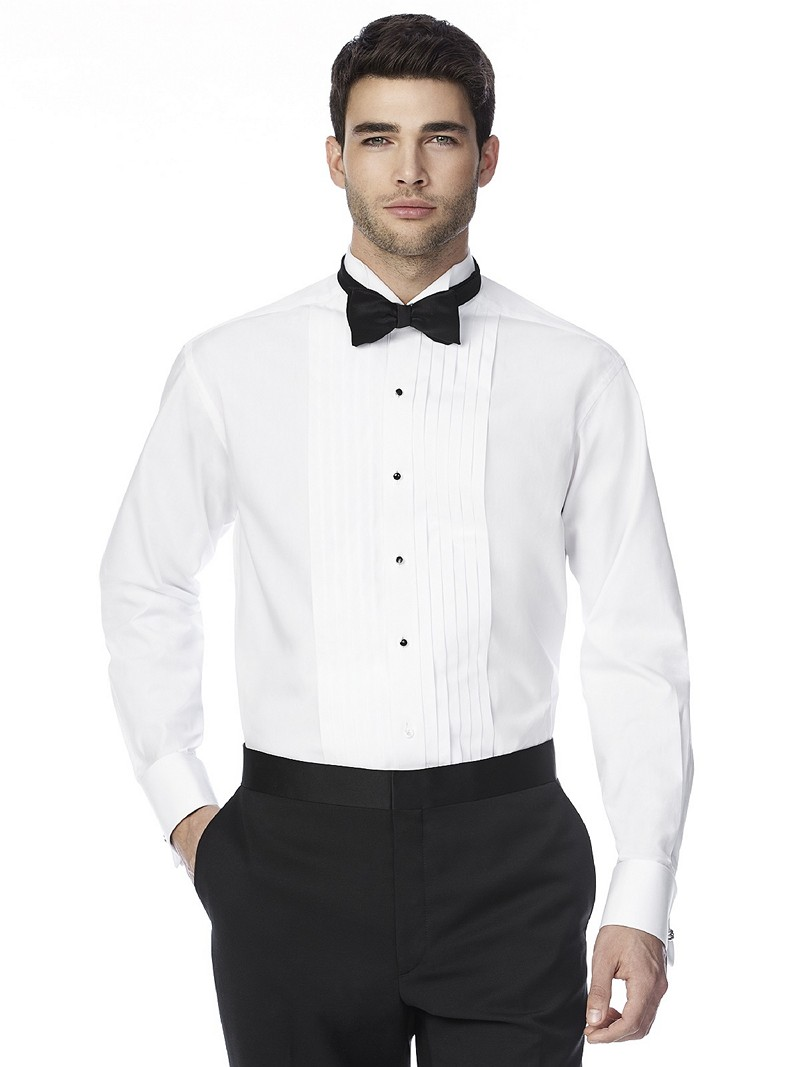 The graham wing collar tuxedo shirt for Wing tip collar shirt