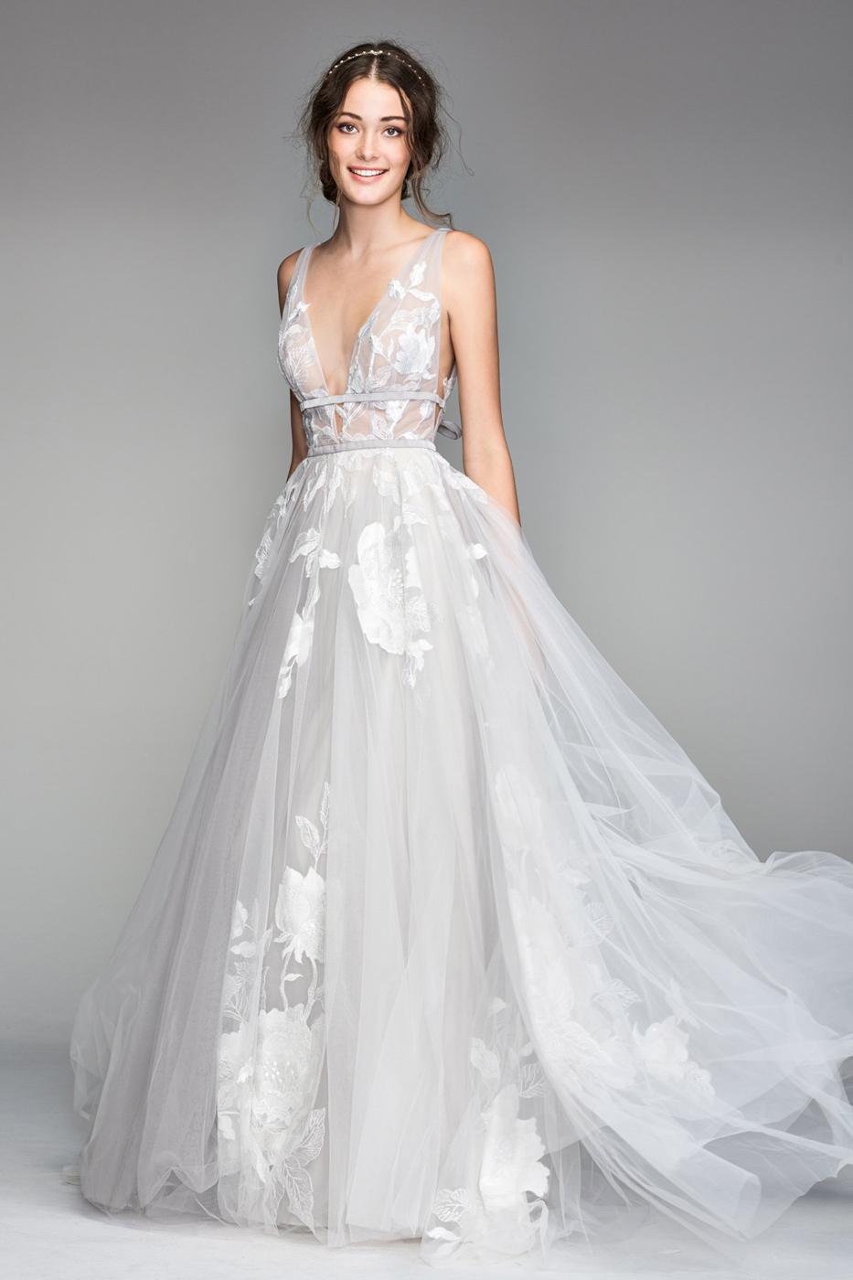 plunging neckline wedding dress off 18   medpharmres.com