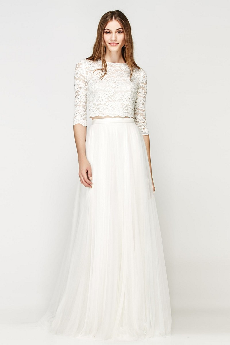 Willowby 56115 lanikai crop top for Cheap wedding dresses vancouver
