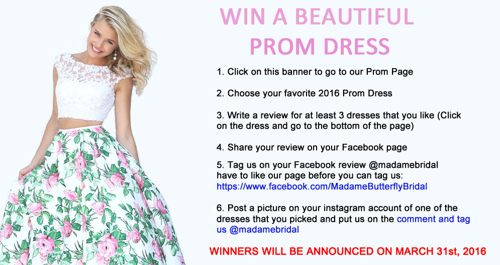 Promotions for Win free wedding dress