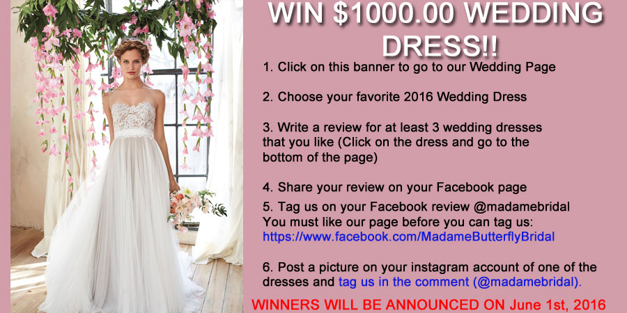 Win a wedding dress madame bridal junglespirit Image collections